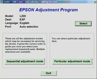 epson l200 adjustment program