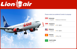 Lion Air Website
