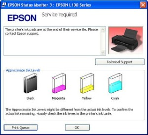 Error Message Epson L100