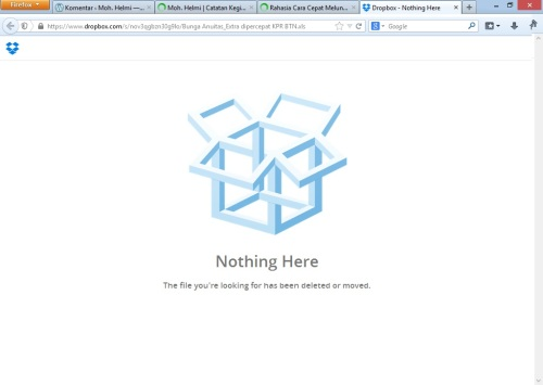 Dropbox Nothing Here