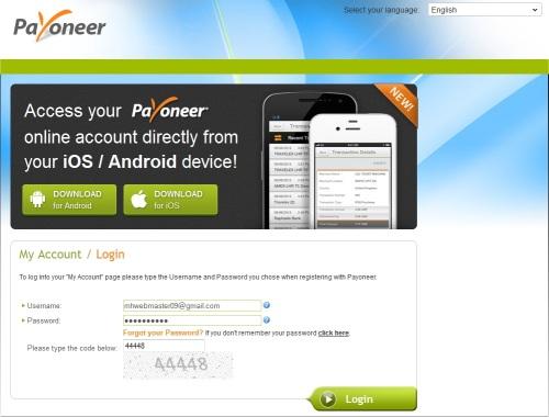 Langkah ke-10 Email From Payoneer Login