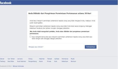 facebook anda diblokir